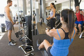 Group Of Weight Training At Gym — Stok fotoğraf