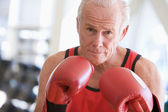 Man Boxing At Gym — Stock Photo