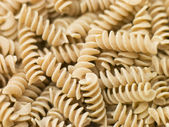 Pasta, Fusilli, Wholewheat — Stock Photo