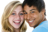 Close-Up Portrait Of Teenage Couple, — Stock Photo