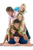 Teenagers On Top Of One Another — Stock Photo
