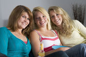 Teenage Girls At Home — Stock Photo