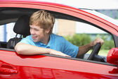 Teenage Boy Sitting In Car — Stock Photo