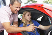 Teenage Girl Learning How To Drive — Stock Photo