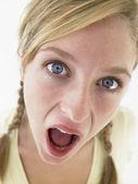 Portrait Of Teenage Girl Looking Shocked — Stock Photo