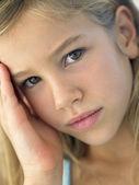 Portrait Of Girl Looking Sad — Stock Photo