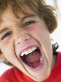 Portrait Of Boy Shouting — Stock Photo