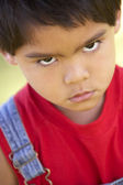 Kids Portraits, Toddler, Boy, Angry, Sulking, Upset, Kids, Heads — Stock Photo