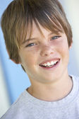 Portrait Of Pre-Teen Boy Smiling — Stock Photo