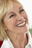 Middle Aged Woman Smiling Cheerfully — Stock Photo