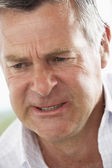 Middle Aged Man Frowning — Stock Photo
