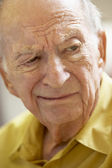 Senior portrét, muž, přátelský, devadesátých let, portrét, šťastný, usměvavý, hap — Stock fotografie
