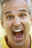 Senior,portrait,Man,Forties,Shocked,Surprise,Dismay,Unhappy,Head — Stock Photo