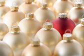 Selection of red and gold christmas decorations — Stock Photo