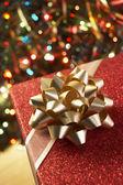 Christmas Present Under Tree — Stock Photo