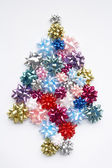 Christmas Tree Made From Gift Bows — Stock Photo