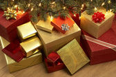 Christmas Presents Under Tree — Stock Photo