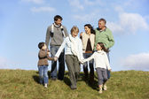 Family Walking In The Park — Stock Photo