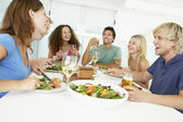 Friends Having Lunch Together At Home — Stock Photo