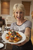 Woman With Hors D'oeuvres For A Dinner Party — Stock Photo