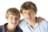 Two Brothers Happy Together — Stock Photo