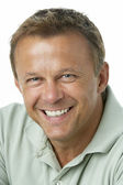 Middle Aged Man Smiling — Stock Photo