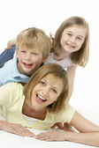 Mother And Children Happy Together — Stock Photo