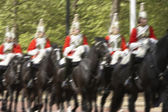 Household Cavalry Riding In The Street — Stock Photo