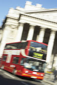 Bus Driving Past Royal Exchange — Stock Photo