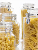 Jars Filled With Pastas — Stock Photo