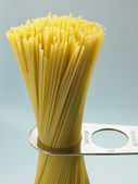 Spaghetti Pasta Being Measured — Stock Photo