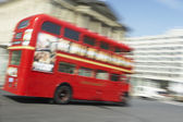 Double Decker Bus Driving Through The Streets Of London — Stock Photo