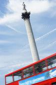 Nelson's Column In Trafalgar Square, London, England — Stock Photo