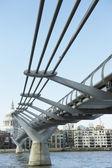 Millennium Footbridge, London, England — Stock Photo