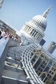 St Paul's Cathedral And Millennium Footbridge — Stock Photo
