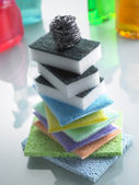 Stack Of Colorful Sponges — Stock Photo