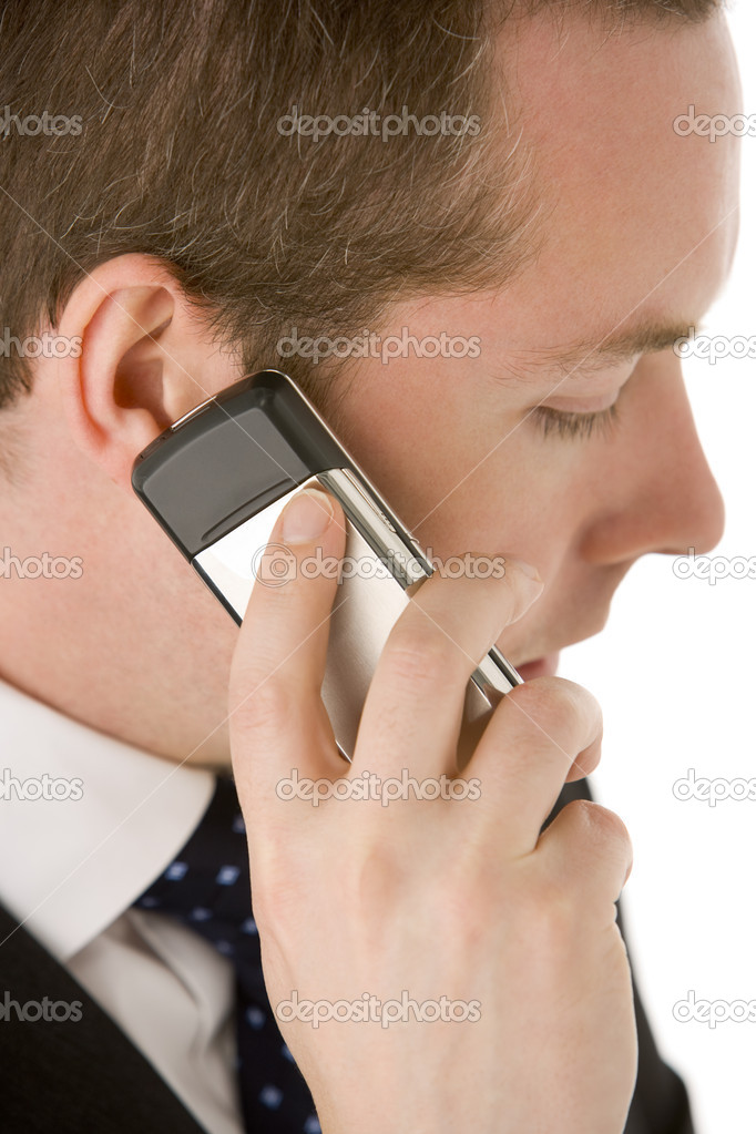 Businessman Talking On Mobile Phone — Stock Photo #4781603