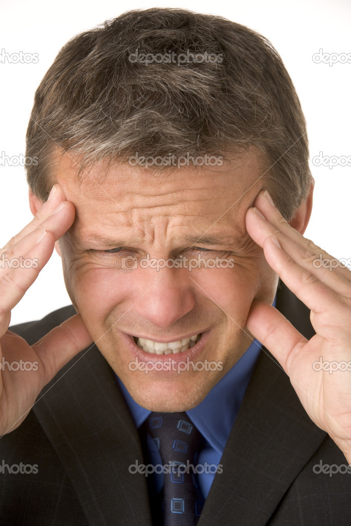 Businessman With Headache — Stock Photo #4781683
