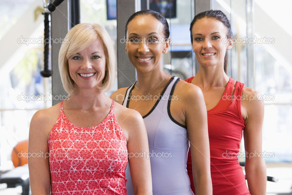 Portrait Of Women At Gym — Stock Photo #4785328
