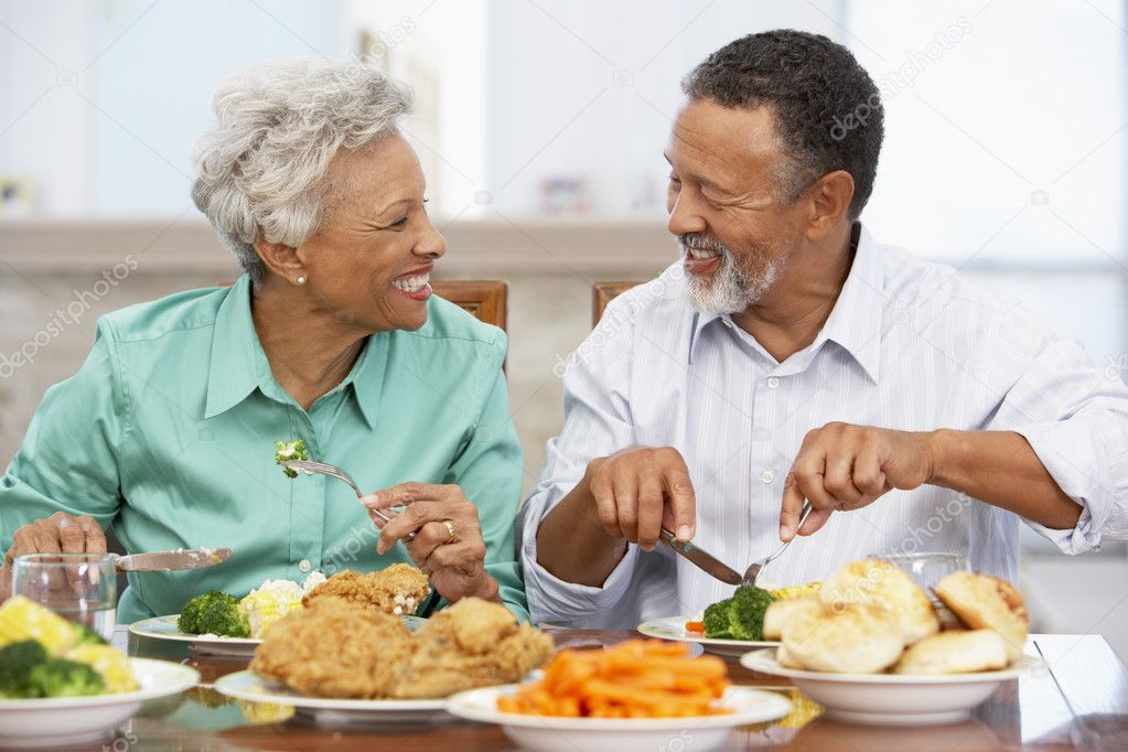 Couple Having Lunch Together At Home — Stock Photo #4789177