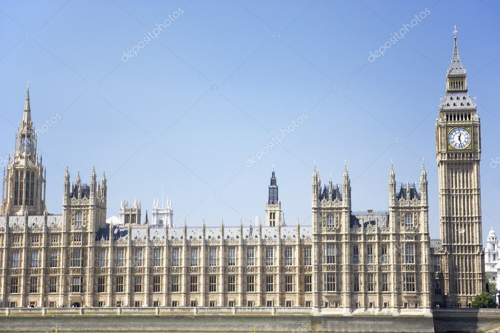 Big Ben And Houses Of Parliament, London, England — Stock Photo #4789716