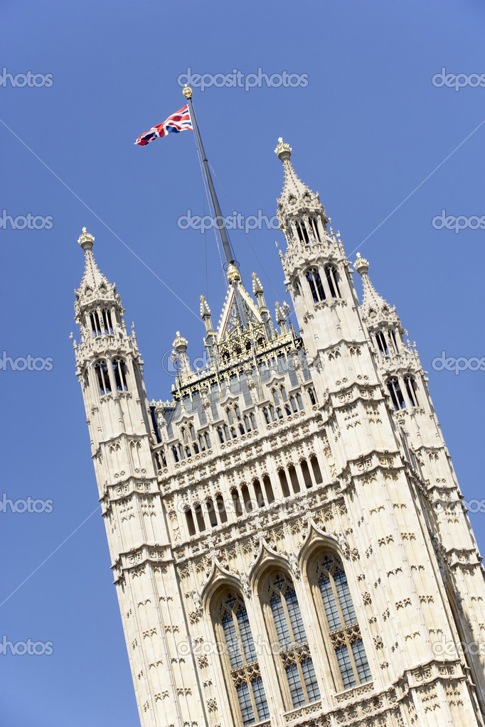 london england flag. Flag Flying From Westminster