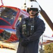 Portrait of paramedic standing in front of Medevac — Stock Photo #4790248