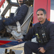 Stok fotoğraf: Portrait of pilot and paramedic by Medevac