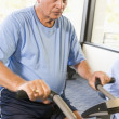 Royalty-Free Stock Photo: Patient Working Out On Exercise Machine