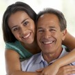 Father And Daughter Together At Home — Stock Photo #4794346