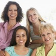 Two Women And Their Teenage Daughters — Stock Photo