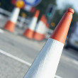Traffic Signs Indicating Road Works — Stock Photo