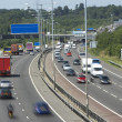 Blurred Traffic On A Busy Highway — Stock Photo #4794475