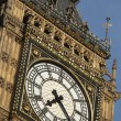 Intricate Clock Face Of Big Ben, London, England - Stock Photo